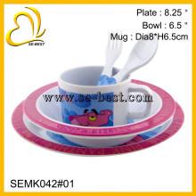 factory wholesale 5 pcs children use melamine dinner ware
