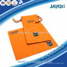 screen printed orange microfibre case for eyewears
