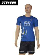 Ozeason Best Dye Sublimated School Team Men Shorts Sleeves T Shirt Volleyball Jersey