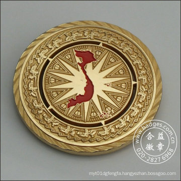 Round Gold Badge, Coin Housing Decoration (GZHY-DH-082)