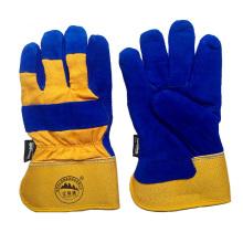 Kuh Split Leder Arbeitssicherheit Schutz Winter Warm Handschuhe für die Arbeit