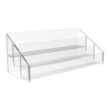 3 Tier Clear Acryl Counter Top Regal Display, POS Display