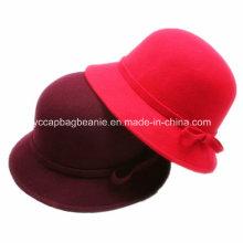 Chapéu de feltro de lã das senhoras da forma