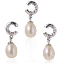Bijoux en argent avec perles, ensembles de perles