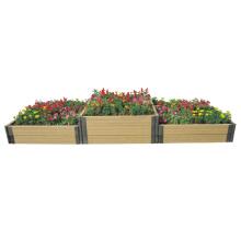Manufacturer Supply DIY WPC Wood Plastic Garden Planter Raised Bed a Flower Pots Box
