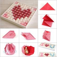 DIY шоколад яйца коробки и бумажного пакета с подносом