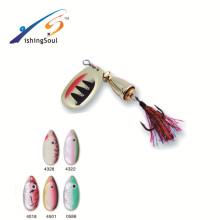 SPL020 vendas Quentes de pesca enfrentar artificial isca isca spinner isca de pesca de metal