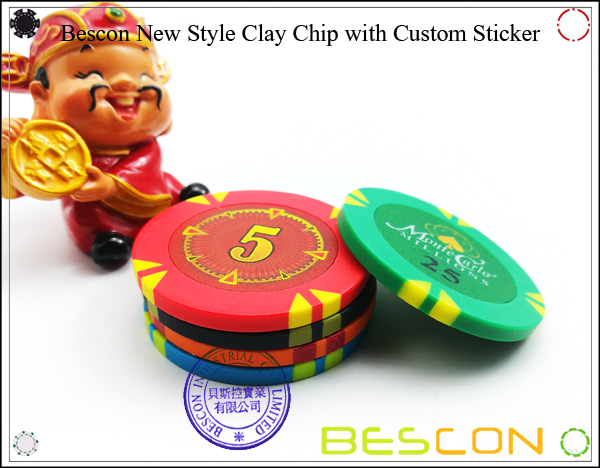 Bescon New Style Clay Chip with Custom Sticker-2