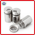 Stainless Steel /Glass Seasoning Cans Barbecue Sauce Bottle