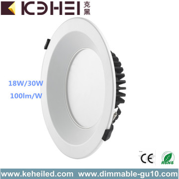 18W 30W LED Lámpara de techo Dimmable LED Downlight