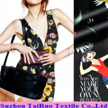 114cm Reactive Printed Crepe Satin Silk Fabric