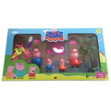 Populäre Karikatur der rosa Schwein-Familien-Spielwaren für Kinder