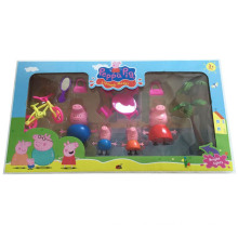 Dibujos animados populares de Pink Pig Family Toys para niños