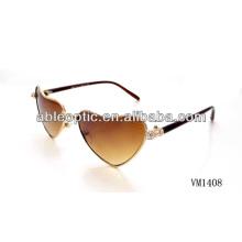 Верхняя мода в форме сердца металлические солнцезащитные очки