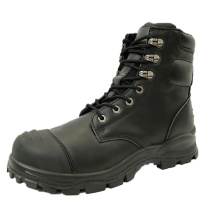 High Quality CE Industrial Leather Steel Toe Brand Safety Shoes Work Men's Boots Safety Shoes