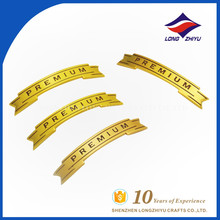 Wholesale good quality gold metal name plate