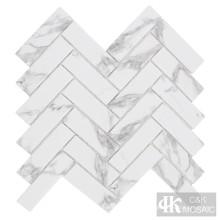 Mosaico de mármore e vidro para decoração de parede