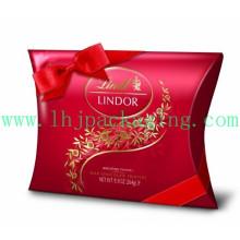 Роскошная коробка для подушки с бумажной упаковкой с лентой