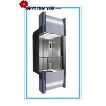 630kg, 800kg, 1000kg, 1250kg Capacity Stainless Steel Panoramic Elevator