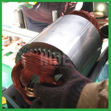 Water pump motor stator coil insertion machine