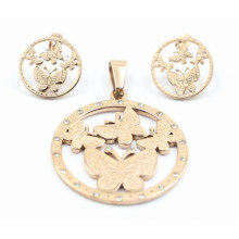Stainless Steel Costume Earring & Pendant Set Jewelry