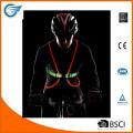 Многоцветный светодиодный волоконно-оптический жилет для езды на велосипеде