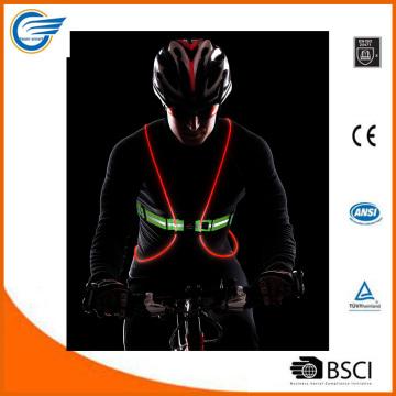 Multicolor LED fibra óptica chaleco para el ciclismo