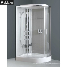 Aokeliya Complete Shower Cubicles Steam Room in D Shape with Seat