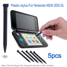 Plastic Stylus Pen Game Console Screen Touch Pen for Nintendo New 2DS XL / LL Game Console Black White