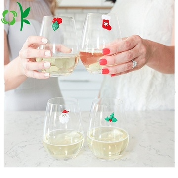 Giáng sinh kỳ nghỉ Silicone từ Cocktail Glass Markers