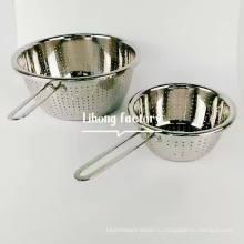 Набор дуршлаг из нержавеющей стали 304 / Корзина для хранения кухонных принадлежностей / Корзина для мытья овощей и фруктов