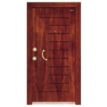 puerta acorazada de madera acero