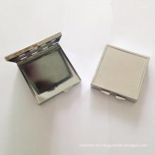 Caja cuadrada de metal plateado para joyas / regalos (BOX-29)