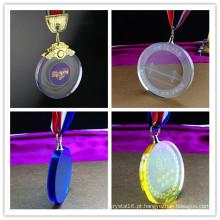 Prêmio de troféu de cristal de novidade colorido de alta qualidade