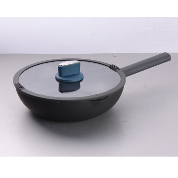 2019 cheap new item aluminum 30cm Wok