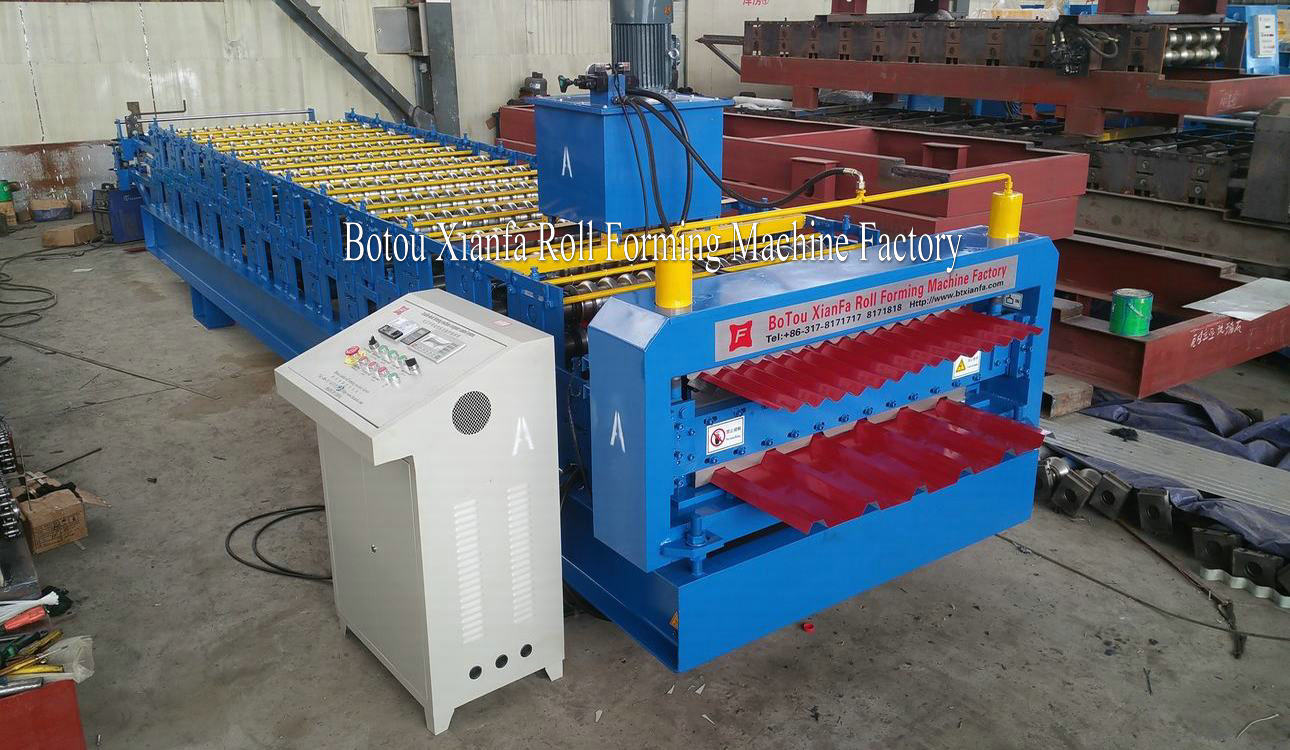 trapezoidal and corrugated panel making machine