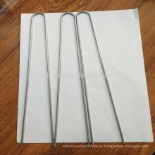Grampos de metal galvanizado U / grampos de grama / pinos de grama artificial