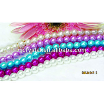 Hochwertige künstliche Perle runde Glasperle