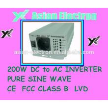 24VDC 200W inversor 50 / 60Hz conmutador seleccionable