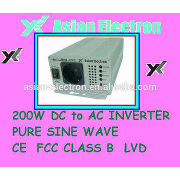 Inigualable calidad 12VDC 200W inversor 100VAC 60Hz
