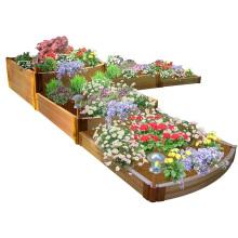 Wholesale Garden Engineering WPC Planters Waterproof DIY Composite Flower Pots