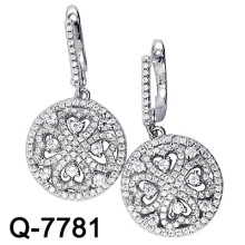 Pendiente micro de plata esterlina 925 (Q-7781)