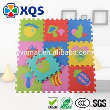 2016 venda quente criança suave número do alfabeto GINÁSIO enigma intertravamento piso de brinquedo EVA espuma tapete de jogo, tapetes de exercícios de espuma macia EVA