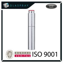 15ml SOLE Slim CNC Brushed Silver Twist up Refill Perfume Travel Spray