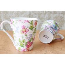 Copo de café da manufactura Copa de cerâmica para o leite, copo de porcelana do café