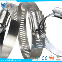 Stainless steel hoop for silicone rubber hose hose clamp