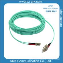 Om3/150 Duplex Aqua Fiber Optical Cable with Sc-LC Connector