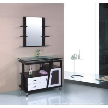 Gabinete de baño de madera maciza (B-613B)