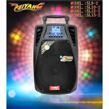 El más nuevo altavoz de 12inch altavoz potente recargable con auriculares SL-12-02