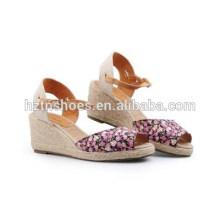 Корея Edition Европа удобный досуг клинья сандалии ботинки конопли